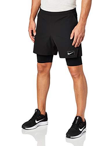 Nike M Nkct Ace PRO Ln NT Pantalone Corto, Nero/Nero/Nero/Bianco, XXL Uomo