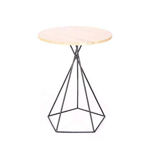 Huahua stoel eindtafels eenvoudige onregelmatige smeedijzeren hout bijzettafel, creatieve Scandinavische buiten balkon kleine theetafel salontafel
