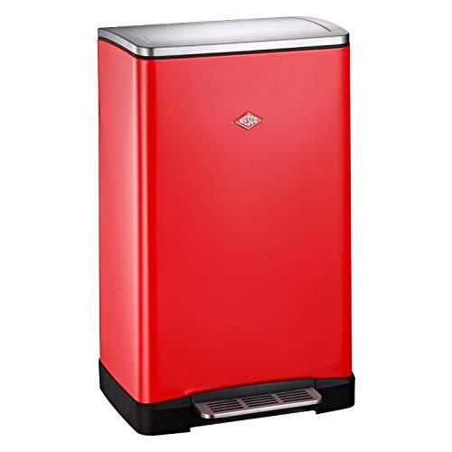 WESCO Big Double Boy, in der Farbe Rot verfügt über zwei getrennte Mülleimer 41 x 35 x 65 cm, je x 18 Liter