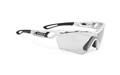 ルディプロジェクト(RUDYPROJECT) スポーツ サングラス ロード バイク 自転車 マラソン ジョギング 運動 トライアスロン テニス 野球 バンパー TRALYX SLIM トラリクス スリム ホワイト フレーム/インパクト X 2 調光 ブラッ