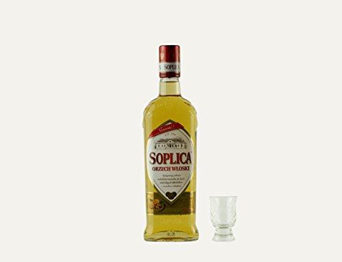 Soplica Walnuss + Free Shot Glas   Polnischer Walnusswodka/-likör   30%, 0,5 Liter