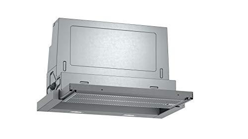 Neff D46ED52X1 - Campana extractora empotrable N50, 60 cm, extractor o recirculación, clase de eficiencia energética A, color plateado