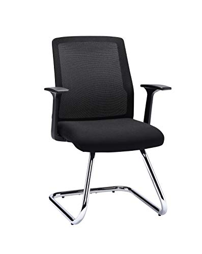 Office Hippo Desk Chair No Wheels, Executive Office Chair, Computer Chair for Home, Small Office Chair, Mesh, Black
