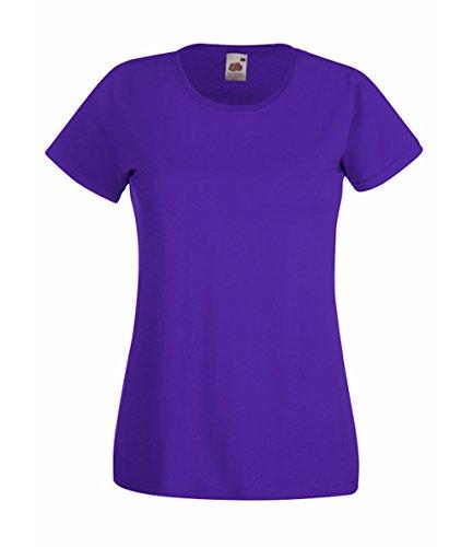 Fruit of the Loom 5er Pack Damen T-Shirt Größe M Farbe Violett