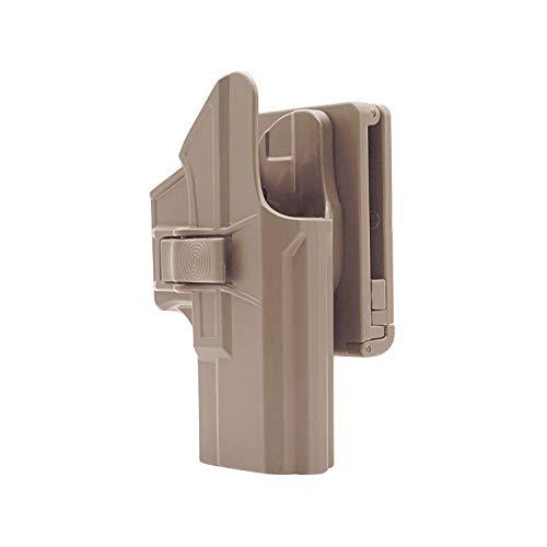 efluky Glock 19 23 32 Gürtelholster Glock Holster Pistole Molle Gun Holster Fit Glock 19 23 32(Gen1-5), Glock 19X, Glock 45, Rechts Belt Clip 60° Einstellbar