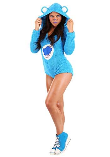 Women's Care Bears Grumpy Bear Romper Medium Blue