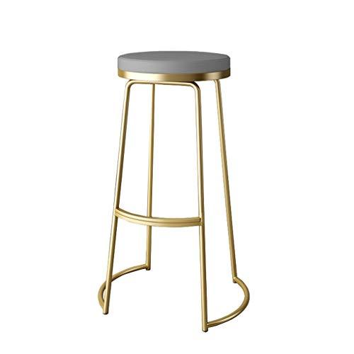 Tuqia Meubel, metalen barkruk, kunstleer, gouden hocker, home keuken, reception, decoratieve kruk, zithoogte: 55 cm / 65 cm / 75 cm, woonkamermeubels stoelen