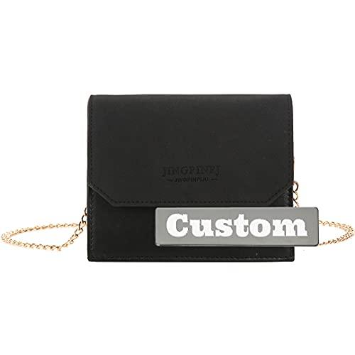 Nombre Personalizado Carteras Monedero Bolsa de Crossbody Bolsa Mini para niñas (Color : Black, Size : One Size)