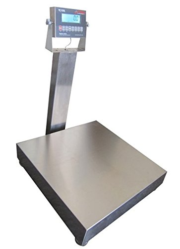 Optima Scales OP-915SS-1616-300 NTEP Stainless Steel Waterproof Bench Scale - 16 x 16 in.44; 300 x 0.05 lb.