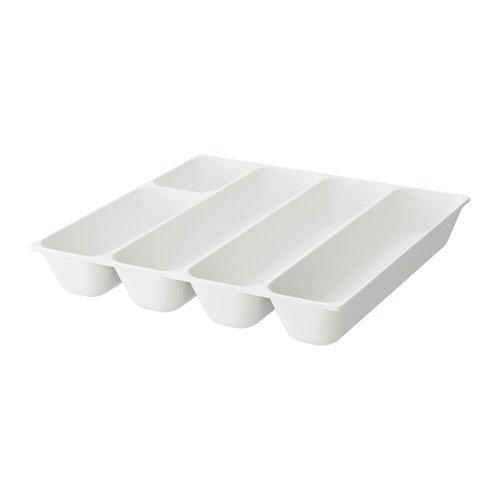IKEA VARIERA Besteckkasten in weiß; (32x31cm)