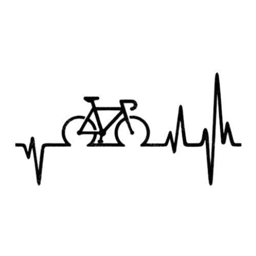 Intervic Pegatina Electro Cardio Cardiomoto Bici Sticker Vinilo Para El Casco Coche...