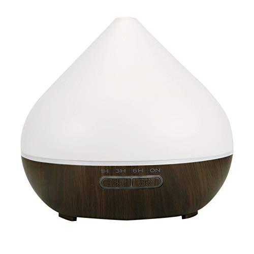 Biboko Difusor de aromaterapia ultrasónico con 7 colores ligeros, 550 ml de aceite esencial, humidificador sin agua, apagado automático, vetas de madera para oficina, hogar, dormitorio