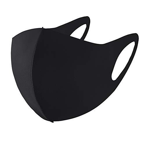 Mund-Nasen-Maske Mundschutz elastische Stoffmaske in 8 Elasthan Spandex Farbe Schwarz