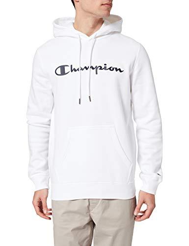 Champion Legacy Classic Logo Felpa con Cappuccio, Bianco, XXL Uomo
