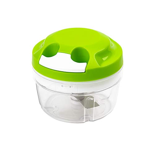 Chignon Manual Food Chopper,Hand Chopper Manual Food Processor,Blenders,Mixers,Kitchen Multifunctional Mini Pull String Choppers Dicer for Fruits,Vegetables,Herbs,Eggs,Onions,Garlics (Green)