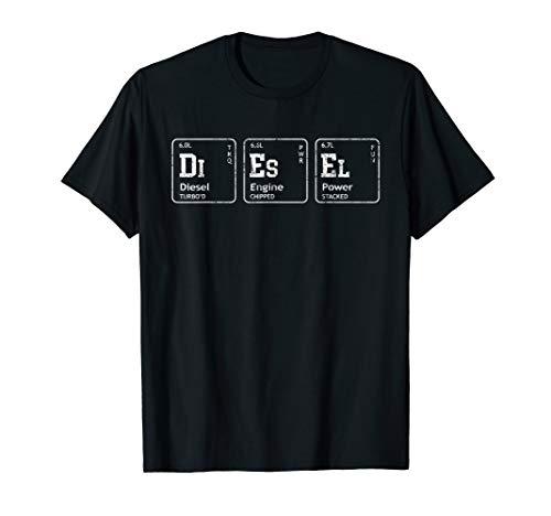 DIESEL Element Tables, Diesel Truck Breakdown Makeup T-Shirt