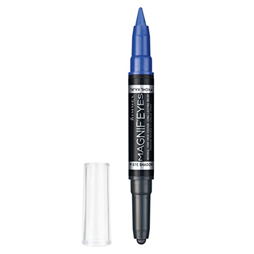 Rimmel Magnif'eyes Double Ended Shadow + Liner 004 - eyeliners (Women, Pencil, Blue, Dark Side of Blue)