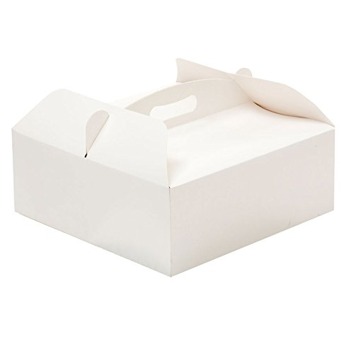Decora 0340200 Caja para Tartas con ASA 23 X 23 X 10 H CM