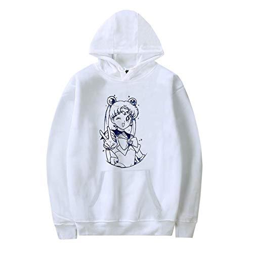 Peoria Sailor Moon Hoodie, Japanese Anime Long Sleeve Hooded Sweatshirt for Girls and Women(M Style 21)