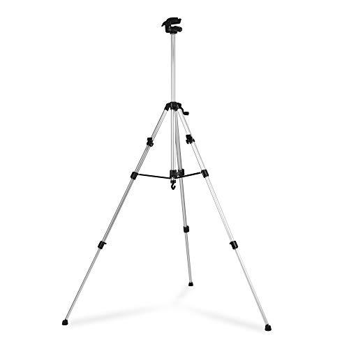 Trotec Universele statief met driepoot, met telescoopuitschuifbare uitschuifbare uitschuifbare uitschuifbare uitschuifbare uitschuifbare stang, geschikt voor camera's, meetinstrumenten