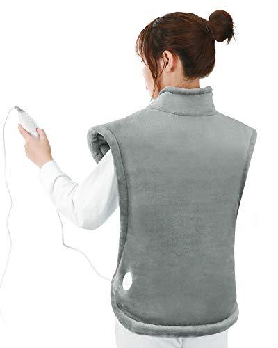 Heizkissen für Rücken Schulter Nacken 60 x 85cm, Rückenwärmer Nackenheizkissen mit Abschaltautomati & Überhitzungsschutz & Schneller Erwärmung