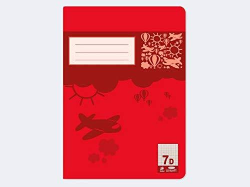 Premium Doppia di quaderno A532BL lin7a quadretti da 7mm–Confezione da 20pezzi