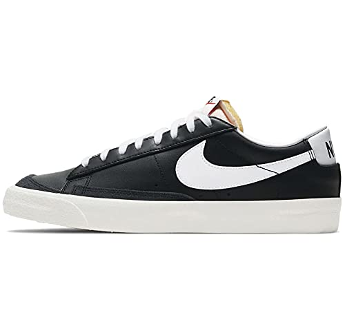 Nike Blazer Low '77 Vintage Casual Scarpa DA6364-001, nero (Nero/Bianco-vela-nero), 44.5 EU