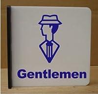突き出し式 トイレマーク 取り付け簡単 かわいい絵柄の紳士トイレ 突き出しタイプ Gentlemen (25cm×25cm)