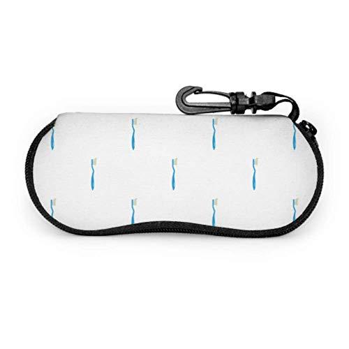 Wthesunshin Brillenetui Box Karikatur Niedliche Zahnbürste Zahnpasta Tragbare Ultraleicht Neopren Reißverschluss Sonnenbrille Fall
