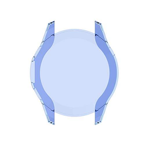 YOFEE WHZZ ADCD para Huawei-Watch GT2 46mm Cobertura Completa Reloj Funda Protectora con Pantalla (Color : Transparent Blue)