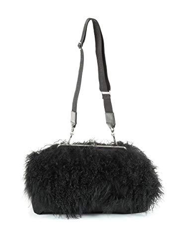 Luxury Fashion | Dsquared2 Dames W17CL209315462124 Zwart Polyamide Schoudertassen | Seizoen Permanent