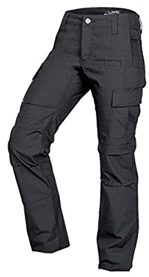 LA Police Gear Women's Mechanical Stretch Ops Tactical Cargo Pants - Charcoal-14-LONG