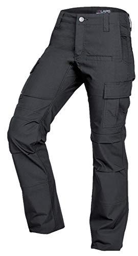 LA Police Gear Women's Mechanical Stretch Ops Tactical Cargo Pants - Charcoal-10-REGULAR