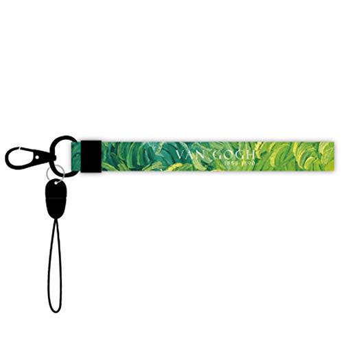 Mobiele telefoon sleutelband omhangband tweezijdig bedrukt in full colour sleutelhanger tas hanger voor mobiele identiteitskaartsleutel mp3 USB-houder groen laat D