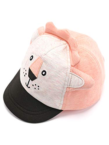 accsa Baby Boy Baseball Cap Novelty Light Salmon Lion Soft Peak Foldable