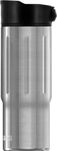 SIGG Gemstone Mug Selenite Thermobecher (0.47 L), schadstofffreier und isolierter Kaffeebecher, auslaufsicherer Coffee to go Becher aus Edelstahl
