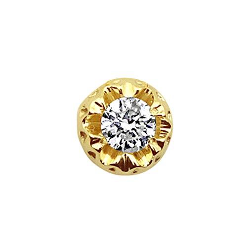 MILLE AMORI ∞ Mono pendiente de oro y diamantes para mujer ∞ oro amarillo de 9 kt 375 diamantes 0,18 Kt ∞ colección Diadema + luz + volumen