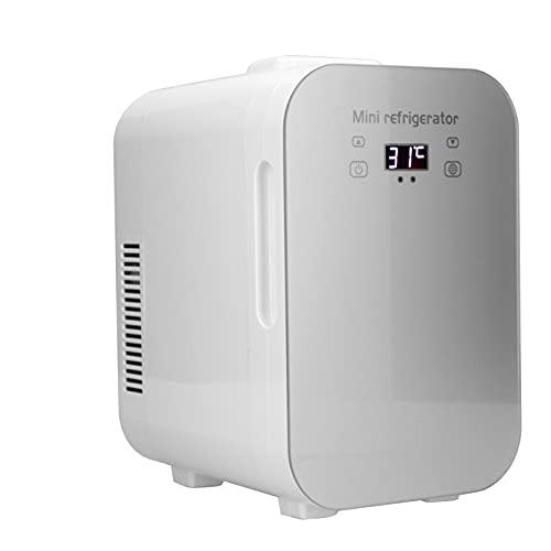 Mini refrigerador de 8L, refrigerador y calentador portátil de 12V para alimentos, bebidas, cuidado de la piel, belleza, mini refrigerador para dormitorio, refrigerador compacto y calentador con CA/CC