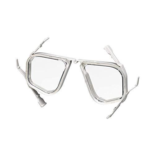 リーフツアラー シュノーケル 度付き レンズ 水中マスク用 フレーム×1個 レンズ×2枚 セット -4.0 ライトグ...