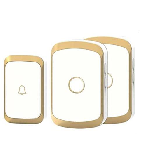JIAXIAO Ship Doorbell inalámbrico, Alarma para el Timbre de la casa Inteligente LED 36 Canciones con botón táctil Impermeable Sistema de Alarma Inteligente/de Seguridad