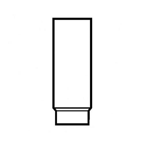 MULDENTHALER Rohr, stahlblank, zylindrisch, eingezogen, 180/750 mm