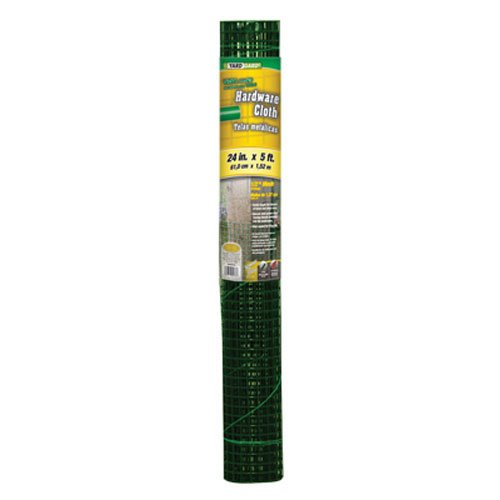 YARDGARD 308253B 24-Inch by 5-Foot Green 1/2-Inch Mesh Hardware Cloth