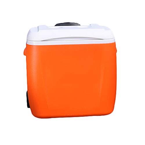 Eiskübel 38L Inkubator Kühlbox Home Car Outdoor Kühlschrank zum Mitnehmen Tragbare Kühlraum Frischfischen Große 48 * 30 * 46 cm XMJ (Farbe : Orange)