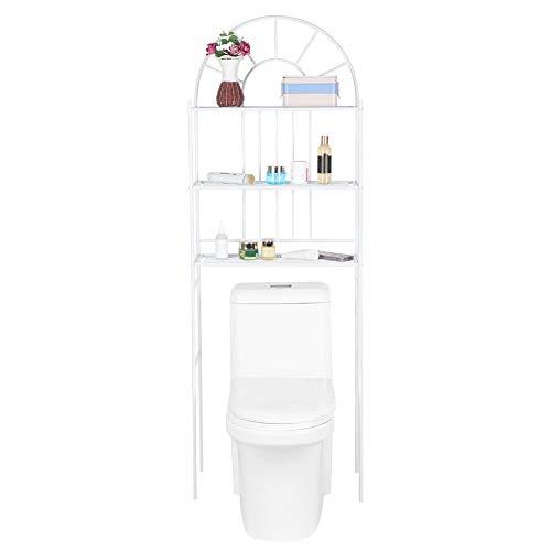 Toilettenregal Bad Regal Abstellregal Bad Waschmaschine mit 3 Ablagen Multifunktional Allzweckregal Platzsparendes Badregal Bad WC Regal Lagerregal