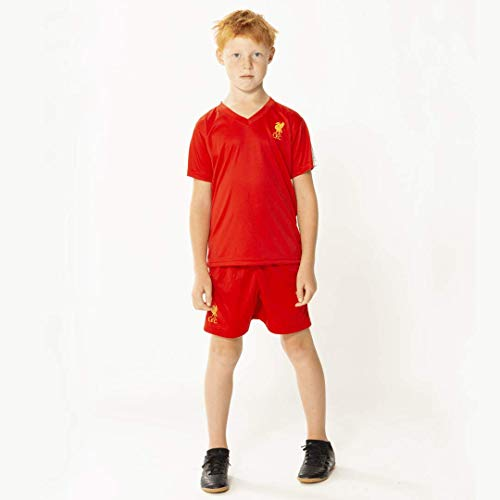 Liverpool voetbaltenue 19/20 - thuis tenue - liverpool shirt en broekje - Officieel Liverpool FC product - 100% polyester - maat 140