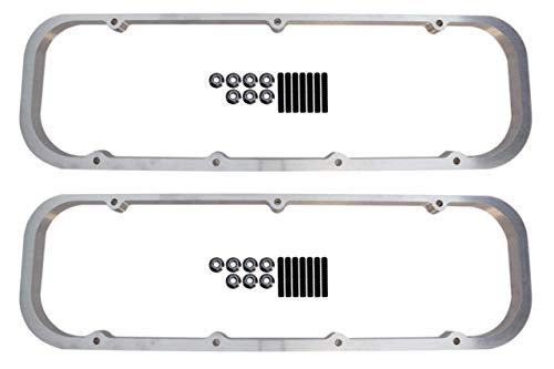"""ICT Billet BBC Big Block 3/4"""" Valve Cover Spacer Riser Tall 396 454 Compatible with Chevy Big Block Engines to Raise Valve Cover for Rocker Arms 551640-7"""