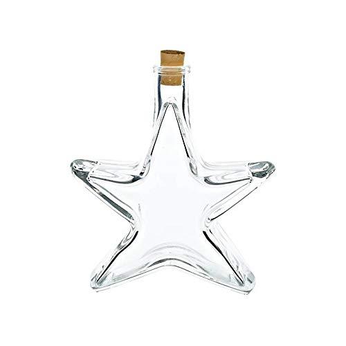 cristalica Motivflasche Flasche Stern Glas Likör Schnaps 200ml Weihnachten