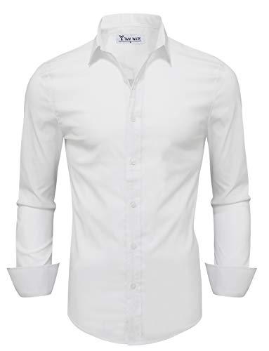 TAM WARE Mens Casual Slim Fit Basic Dress Shirts...