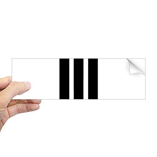 DIYthinker Romeinse cijfers Vier In Zwart silhouet Rechthoek Bumper Sticker Notebook Window Decal