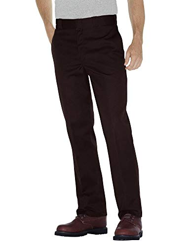 Dickies Men's Original 874 Work Pant, Dark Brown, 38W x 30L